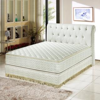 【睡芝寶-正四線3M防潑水+護邊強化蜂巢式獨立筒床墊-雙人加大6尺】
