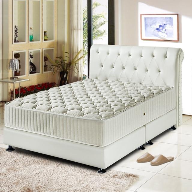 【睡芝寶 五星級飯店用 免翻面 麵包型 蜂巢獨立筒床墊-厚24cm-雙人加大6尺】