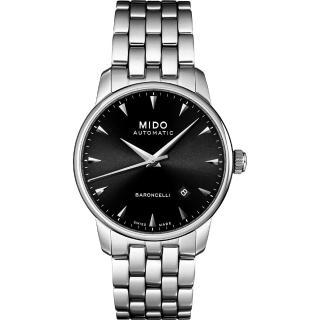 【MIDO 】 Baroncelli 尊爵紳士機械錶/鋼帶(M86004181)