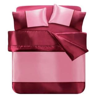 【GALATEA】紅粉知已(絲緞雙人四件式床包被套組)