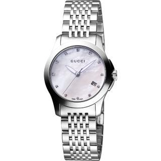 【GUCCI】G-Timeless經典真鑽時尚女錶(YA126504)