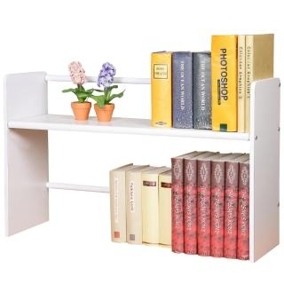 【Homelike】和風伸縮式桌上書架(二色可選)