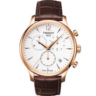 【TISSOT】Tradition復刻計時腕錶-42mm(T0636173603700)