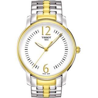 【TISSOT】T-Trend Lady 都會名媛腕錶-白/半金(T0522102203700)