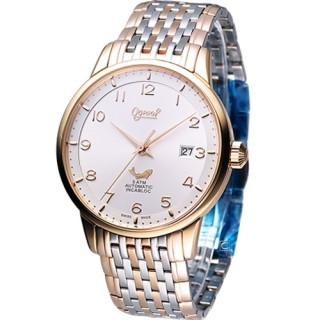 【Ogival 】愛其華 爵士品味 機械錶(1929-24AGSR)
