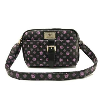 【Dennibella 丹妮貝拉】紫色皇冠時尚質感小方包