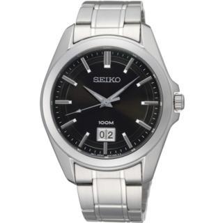 【SEIKO】爵士品味石英錶-黑面(6N76-00A0D)
