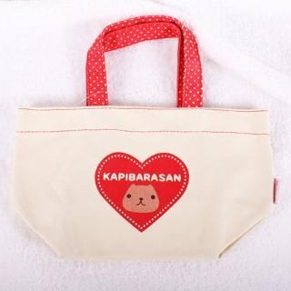 【Kapibarasan 】水豚君愛心印花帆布提袋