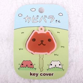 【Kapibarasan 】水豚君造型鑰匙套(粉)