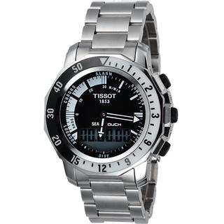 【TISSOT】SEA-TOUCH 觸控多功能潛水錶-黑(T0264201105100)