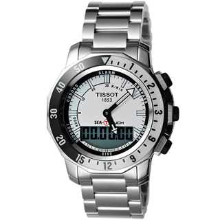 【TISSOT】SEA-TOUCH 觸控多功能潛水錶-白(T0264201103100)