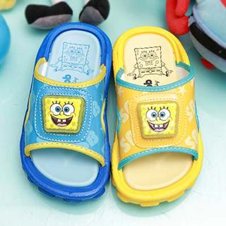 【童鞋城堡】海綿寶寶3D立體icon男童拖鞋(SG1231)