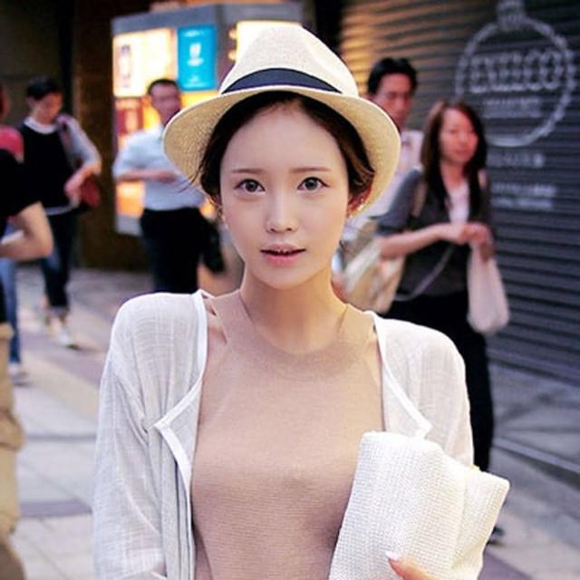 【PS Mall】海洋音樂季 歐美風織帶裝飾爵士禮帽/編織爵士帽/英倫帽(G064)