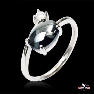 【HEMA KING】925純銀 黑色流星黑膽戒指