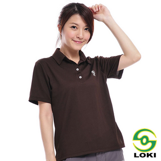 【LOKI】Vana 女抗UV短袖排汗POLO衫(爪哇咖)