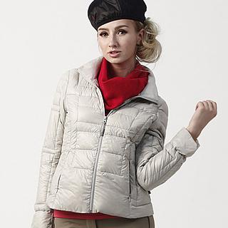 【JORDON】時尚女款超輕羽絨外套(440 銀灰)