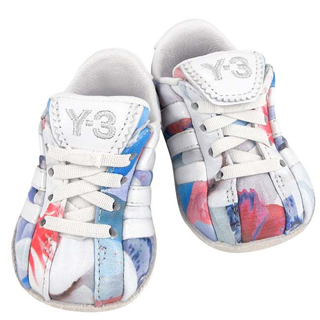 【Y-3山本耀司】多彩皮革綁帶嬰兒鞋(US 0K)