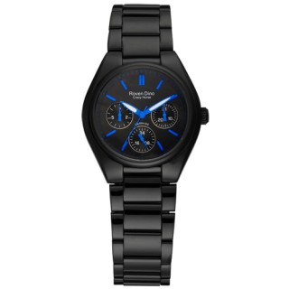 【Roven Dino羅梵迪諾】愛情鉅作三環日期腕錶(藍/小RD9803LB-436-BU)