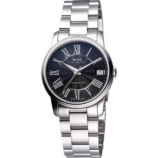 【MIDO】Baroncelli III Lady天文臺認證機械腕錶-黑-銀(M0102081105300)
