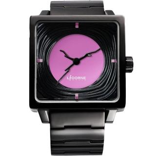 【LICORNE】年輪 TreeRings 橙果設計腕錶-紫/IP黑(LI088LBBI-V)