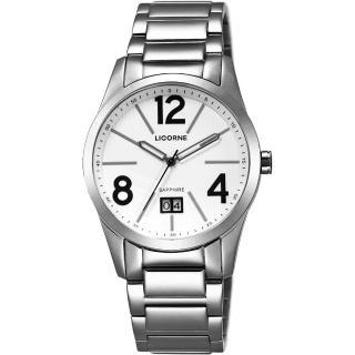 【LICORNE】情人時光大日期腕錶-白-40mm(LB931MWWA-1)