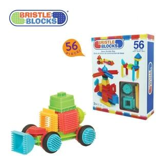 【美國B.Toys】BB鬃毛積木_Battat系列(56PCS)
