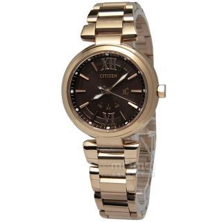 【CITIZEN】xC光動能‧電波時計藍寶石玻璃腕錶_咖啡(ES5013-53W)