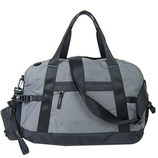 【agnes b.】蜥蜴尼龍托特旅行袋附零錢包(鐵灰)