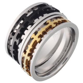 【E&I】-華麗的冒險-可轉動十字造型316L白鋼戒指-單售款