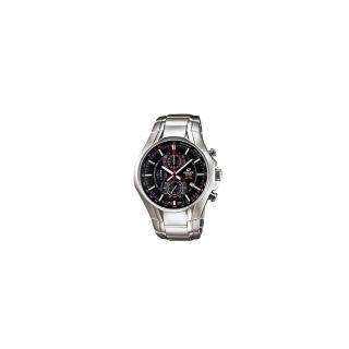 【CASIO】EDIFICE 雅緻科技三眼時尚運動錶(黑 EFR-522D-1AVDF)