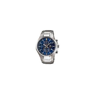 【CASIO】EDIFICE 雅緻科技三眼時尚運動錶(藍 EFR-522D-2AVDF)