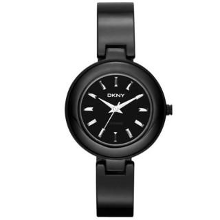 【DKNY】魅力潮流晶鑽陶瓷套錶組(黑 NY8727)