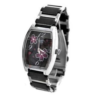 【Valentino范倫鐵諾】櫻花酒桶造型陶瓷錶手錶(玖飾時尚NE341)