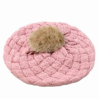 【iSFun】鬆軟棉織*兒童貝蕾帽/粉