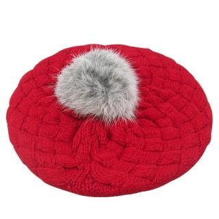 【iSFun】鬆軟棉織*兒童貝蕾帽/紅
