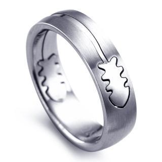 【寶石方塊】叉之禮鈦鋼戒指