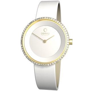 【OBAKU】雅悅媛式晶鑽時尚腕錶(白金V146LGIRW1)