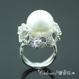 【蕾帝兒名品】媚麗之星白色貝殼珍珠戒指