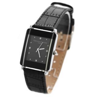 【Valentino范倫鐵諾】時尚經典方形手錶對錶 真皮錶帶 原廠正品(玖飾時尚NE498)