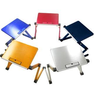 百變鋁合金折疊桌/筆電桌/閱讀桌(時尚亮彩)