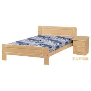 【優利亞-自然松木】單人3.5尺床架(不含床墊.床頭櫃)