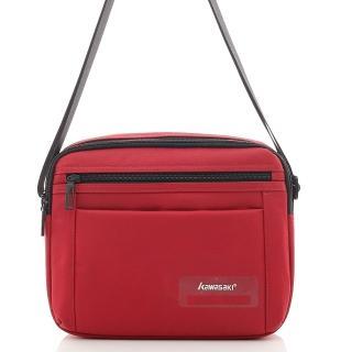 【KAWASAKI】平版橫式紳士包(紅色)