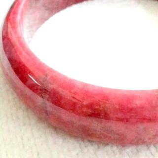 【JIN YANG】金楊名媛風采頂極玫瑰石手鐲(天然玫瑰石手鐲+項鍊+耳環)