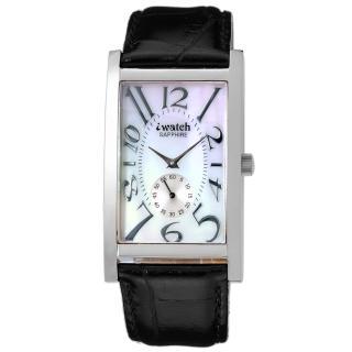 【iwatch】鈦鍺元素都會時尚健康腕錶(白貝殼面 IW-1008-7)