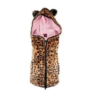 【摩達客】美國艾薇兒品牌(Abbey Dawn)熊熊頭豹紋帽T背心