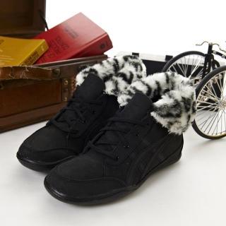 【asics】女-- 時尚鞋 PLUMPDOG (黑TQA319-9090)