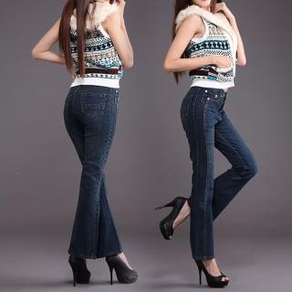 【RH】顯瘦纖細牛仔褲立體喇叭款(全新到貨全尺碼S-4L)
