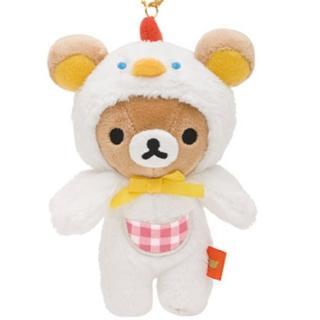 【San-X】懶熊荷包蛋咕咕雞系列毛絨小公仔吊飾