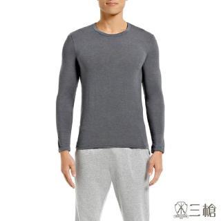【三槍牌】時尚經典型男圓領長袖發熱衣-2件組(發熱衣)