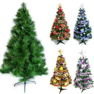 【聖誕裝飾品特賣】台灣製造5呎/5尺(150cm特級綠松針葉聖誕樹+飾品組(不含燈)